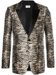 жаккардовый пиджак с тигровым принтом Saint Laurent