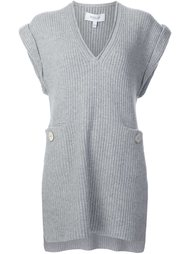 V-neck ribbed blouse Derek Lam 10 Crosby