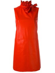 кожаное платье с бантом Drome
