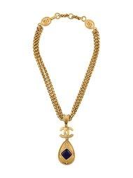 ожерелье с каплевидной подвеской Chanel Vintage