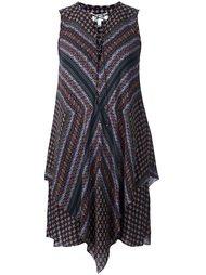 lace-up collar asymmetric dress Derek Lam 10 Crosby