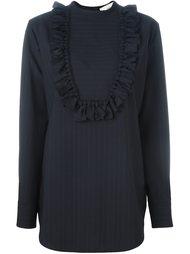 pinstripe fringe plastron shirt Ports 1961