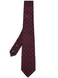 галстук с вышивкой логотипа Fendi