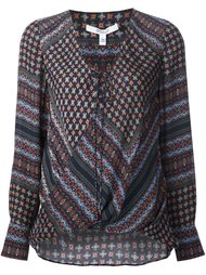 lace-up V-neck flared blouse Derek Lam 10 Crosby
