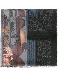 шарф с абстрактным принтом  Salvatore Ferragamo