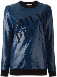sequin embellished sweatshirt Emilio Pucci