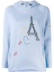 embroidered Paris hoodie Jour/Né