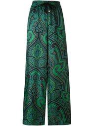 брюки палаццо с абстрактным принтом   For Restless Sleepers