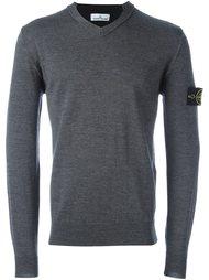 свитер c V-образным вырезом   Stone Island
