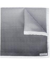 chevron stripe pattern scarf Lanvin