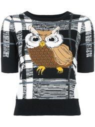 трикотажная блузка 'owl' Alice+Olivia