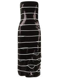 strapless sequin dress Reinaldo Lourenço