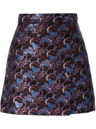 жаккардовая короткая юбка прямого кроя MSGM