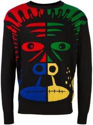 свитер с принтом обезьяны Moschino