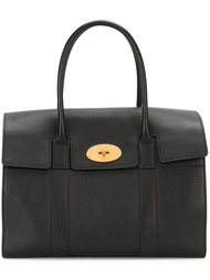 средняя сумка-тоут с золотистой фурнитурой Mulberry