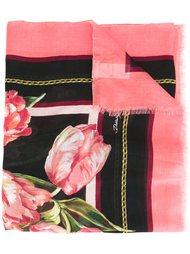 шарф с принтом тюльпанов Dolce & Gabbana