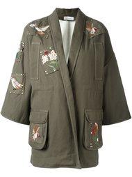 пальто с вышивкой птиц Red Valentino