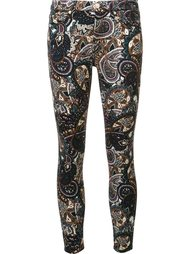 printed skinny trousers 7 For All Mankind