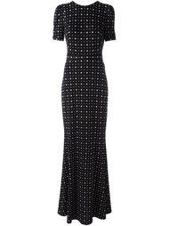 вечернее платье с мелким узором  Givenchy