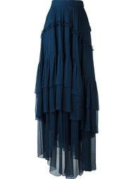 плиссированная юбка с оборками Chloé