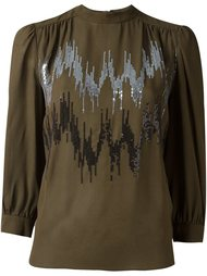 sequin embellished top Giamba