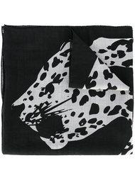 leopard print scarf Saint Laurent