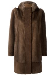hooded fur coat Blancha