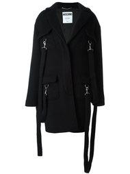 пальто с подвязками Moschino