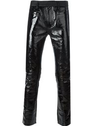брюки с кожаными вставками  Haider Ackermann