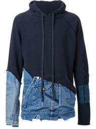 толстовка с джинсовыми деталями Greg Lauren