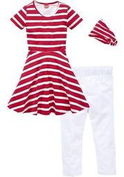 Комплект: платье + повязка на голову + легинсы KIDOKI