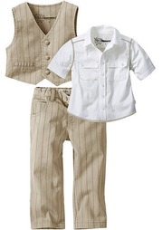 Комплект, 3 части: рубашка + брюки + жилет