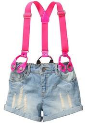 Джинсовые шорты с подтяжками