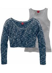Комплект, 2 части: пуловер + удлиненный топ s.Oliver