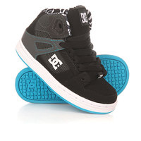 Кеды кроссовки высокие детские DC Rebound Kb Tod Black/White/Blue