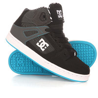 Кеды кроссовки высокие детские DC Rebound Kb Yth Black/White/Blue