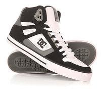 Кеды кроссовки высокие DC Spartan High Wc Black/Grey/White