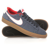 Кеды кроссовки низкие Nike Blazer Low Gt Obsdian White Unversity/Red Lighter