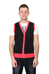 Жилетка Urban Classics Jersey Button Vest Black Infrared