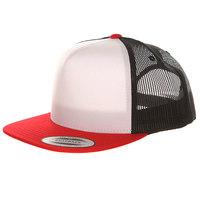 Бейсболка с сеткой Yupoong 6005FW Red/Black/White