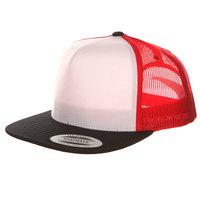 Бейсболка с сеткой Yupoong 6005FW Black/White/Red