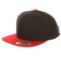 Бейсболка с прямым козырьком Yupoong 6007T Red/Black
