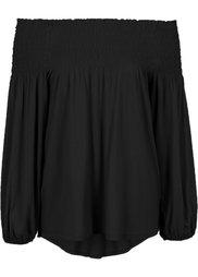Трикотажная блузка с вырезом-кармен (ржаво-красный) Bonprix