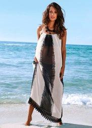 Пляжное платье (черный/белый в полоску) Bonprix