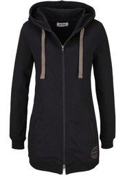 Удлиненная трикотажная куртка (светло-серый меланж) Bonprix