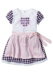 Платье + фартук на Октоберфест (2 изд.), Размеры  80-134 (белый/розовый) Bonprix