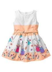Платье с ремешком (белый/розовая пудра в полоску) Bonprix