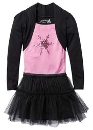 Праздничное платье, Размеры  116/122-164/170 (темно-красный/черный) Bonprix