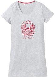 Ночная рубашка (темно-синий/цвет белой шерсти ) Bonprix