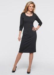 Платье (темно-серый) Bonprix